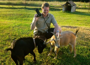 Photographer and friend Wil C. Fry photographs my goats, spring 2009.