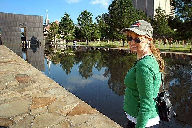 Abby at the Oklahoma City National Memorial, October 2008. This was on our fourth anniversary.