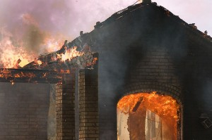 House fire today in Pickett; an image like this can tell the story to our readers without invading personal space.