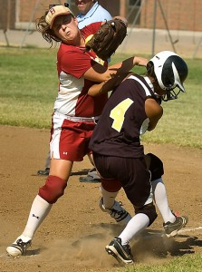 Latta vs Byng softball today; a longstanding rivalry, these two teams are never lacking conflict.