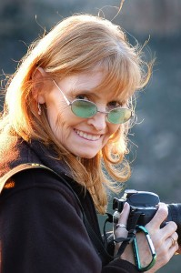 My wife Abby at Mesa Verde National Park, October 2005; I made this image with my 70-300mm at about the 135mm setting.