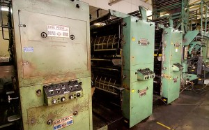 The aging News King press sits silent; part of the reason we shut it down and went to other facilities was that several of the people who could repair it recently retired.