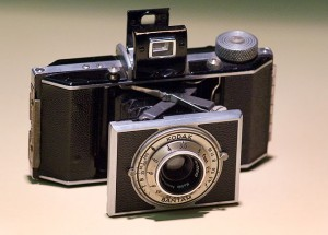 My grandfather's Kodak Bantam camera; throughout his life, this was the only camera he owned, and with it he made literally thousands of beautiful photographs.