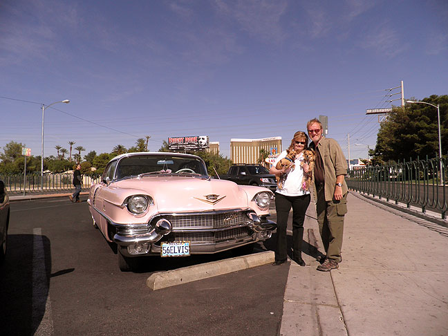 After I shot an image of Abby with Elvis in Las Vegas, Elvis offered to take a picture of us with his car. Unfortunately, he also appears to have gotten much of the rest of southern Nevada in the frame as well.