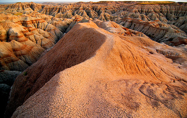 Sunset, Badlands National Park, South Dakota, July 2005; I love the leading lines and textural exploration offered by this image, but it's still not a top five member.