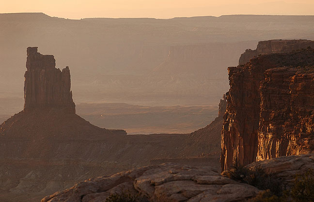 Sunset on Candlestick Tower, Canyonlands National Park, Utah, October 2008; images like this go deep, both visually and metaphorically. This one, however, just fell short of being a top five image.