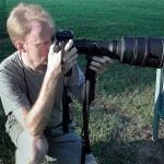 The author wields his 1980s-era 400mm recently.