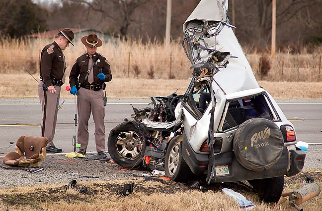 Fatality crash near Allen, Oklahoma, 2009