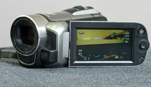 This is the Canon Vixia HF R10 high-definition digital camcorder I use for news gathering. It's small and affordable, but the lens is a distinct weakness of this model.