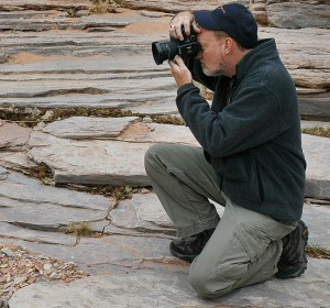 This is me shooting in Canyonlands National Park in 2011 with the S200EXR. That camera is capable of amazing images, and I hope our new HS30EXR cameras are capable of even more. (Photo by Robert Stinson)