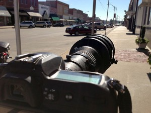 This is my 400mm with the 1.4 converter looking down Main Street. Compare it to the image at the bottom of this entry.