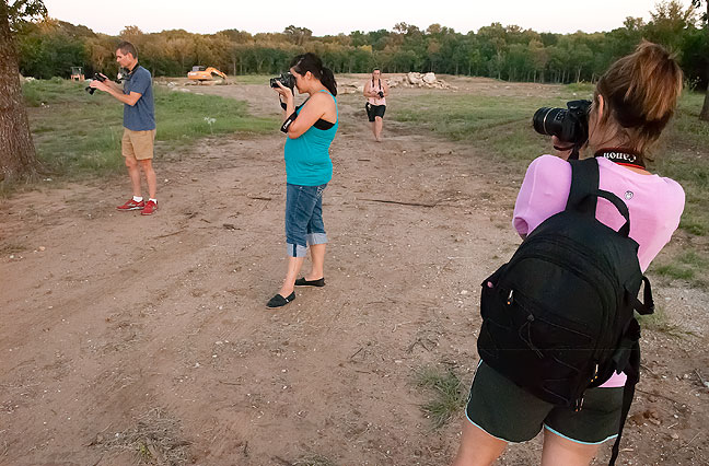 Team photo: our group, Steve, Micheala, Stephanie and Sharla,  makes pictures just as the golden moment fades into the blue hour.