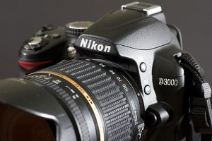 The tool of my trade today: the Nikon D3000 with the Tamron 18-250mm.