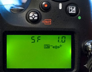 Like many modern Digital SLRs, the Nikon D7100 allows you to automate bracketing. With the self-timer on five seconds and the bracketing set to five frames at one-stop intervals (shown), you can release the shutter and let the camera do the rest.