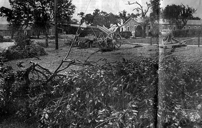 This was my first published news photo, of downed trees at Fort Sill, Oklahoma, in May 1982.