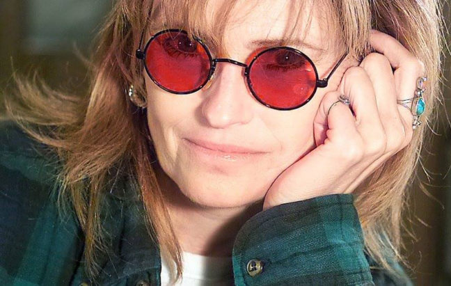 Abby wears a pair of my red sunglasses, which I use exclusively as a prop.
