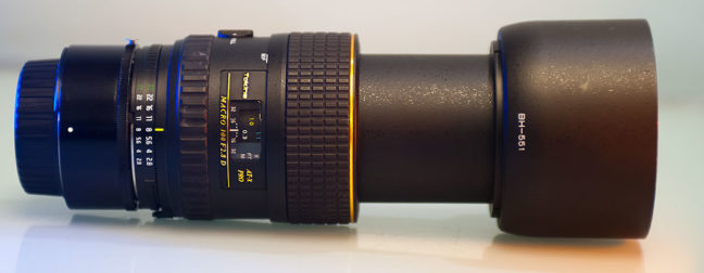 I attached my 32-year-old Nikon 27.5mm to my Tokina 100mm f/2.8 macro, allowing me to make super-macro images.