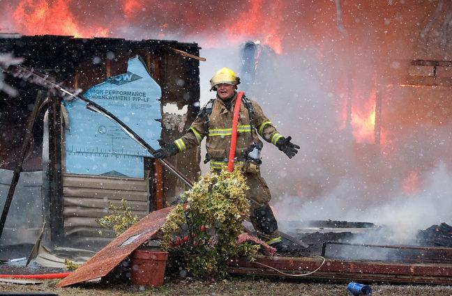 Spot News: Fire in a Snowstorm