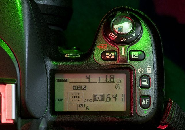 The control cluster on the top right of the Nikon D80 has a good-sized LCD readout and buttons that will be familiar to most Nikon users.