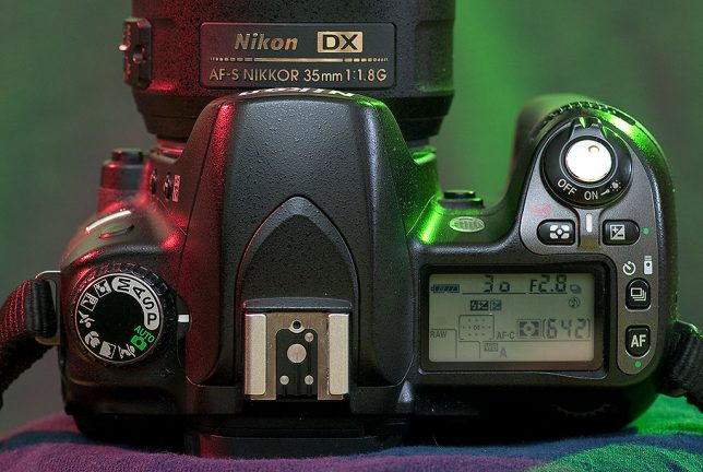 The top of the Nikon D80 is good-looking and has controls where they are needed.