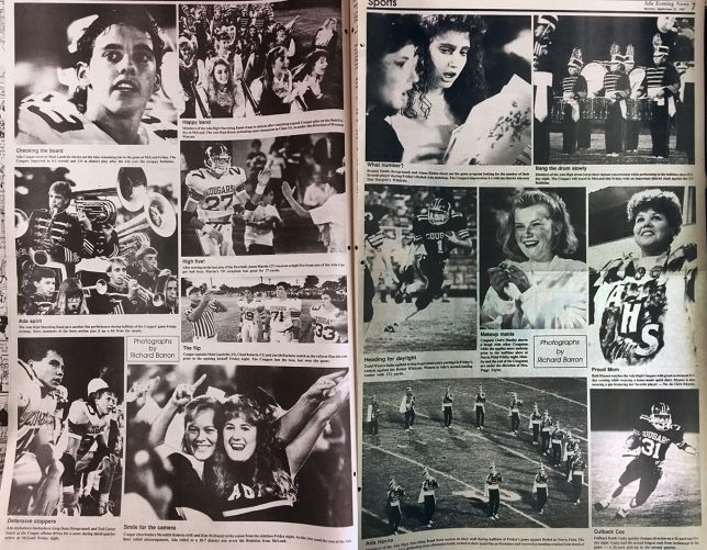 For a while at The Ada News in the late 1980s we published a picture page of my sports images every Monday. The public loved them, but we never have that kind of space in the daily any more.