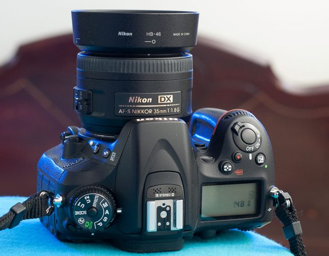 My AF-S Nikkor 35mm f/1.8 makes a nice, compact package on my D7100.