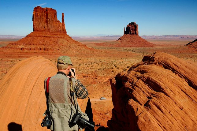 Abby photographed me with her D70S at Monument Valley in 2006. As you can see, color rendition and sharpness are excellent.