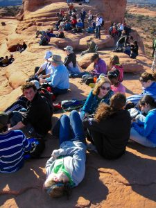 Abby and I got married at Arches National Park's beautiful and evocative Delicate Arch, which, fortunately, was not at all crowded on that October morning. This image was made six years later, on a sunny afternoon, packed with visitors.