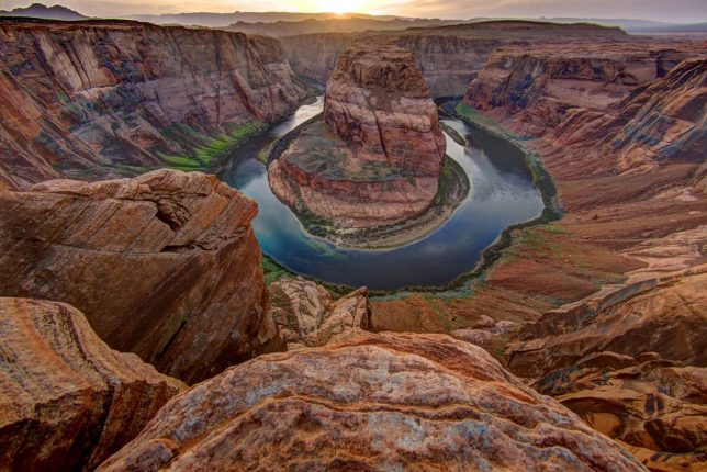 I last visited the majestic, awe-inspiring Horseshoe Bend of the Colorado River south of Page, Arizona in 2015. I don't anticipate seeing it again, at least not when it's crowded.