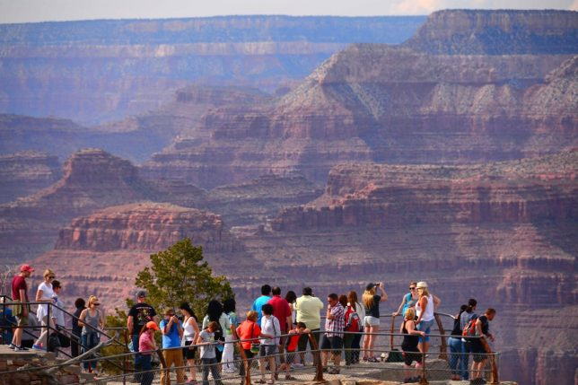 While it is true that our National Parks belong to all of us, such privilege also comes with it an implicit mandate of responsibility to protect and respect the natural world. This image was made at Mather Point at Grand Canyon National Park in April 2015.