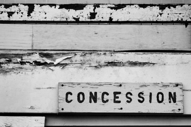 Concession Stand, Allen, Oklahoma High School, August 2006.