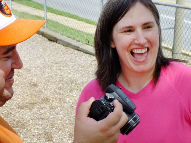 Tom and Chele share a moment as they make pictures with their FinePix S4500.
