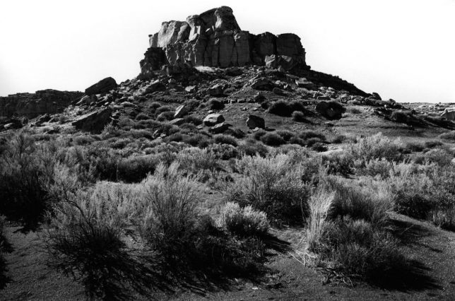 This 2001 Ilford FP-4 Plus film image of a mesa in northwestern New Mexico is an excellent example of the kind of tonal quality film can produce.