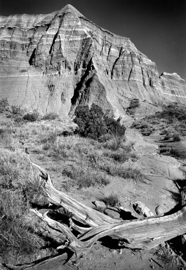 I made this black-and-white film image at Palo Duro Canyon in May 2002. It was one of the last times I shot film on a hiking trip.