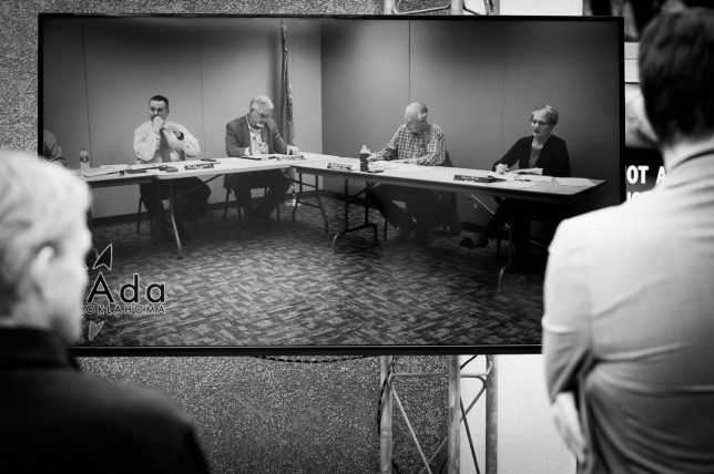 This was last night's city council meeting on closed circuit television.
