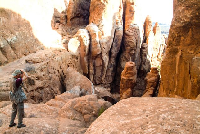 Your host photographs The Fiery Furnace in Arches National Park, Utah. The next frame is the result...