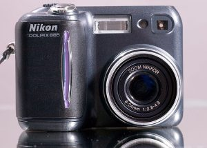 I bought the Nikon Coolpix 885 in the summer of 2002 as a small alternative to the Nikons I was using professionally at the time. By the time Abby and I had been dating a few months, she had made it her own.