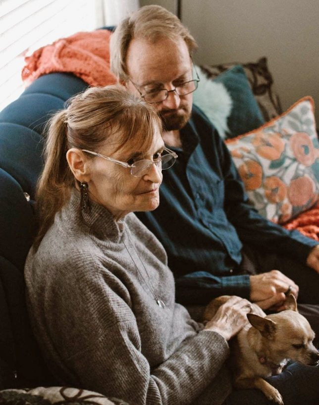A young photojournalist friend of ours, Mac Crosby, came to our home in early March 2020 to interview us for her writing class, and made some amazing pictures of us together.