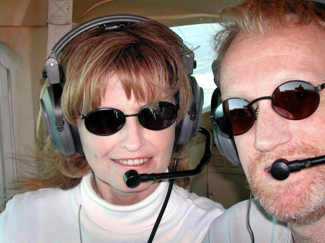 Abby and I take to the skies over Oklahoma in the spring of 2003.