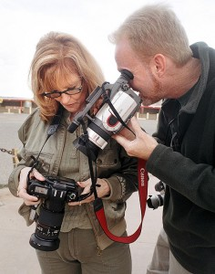 Abby and I make video and stills at Four Corners Monument on the second day of our trip to Moab, Utah.