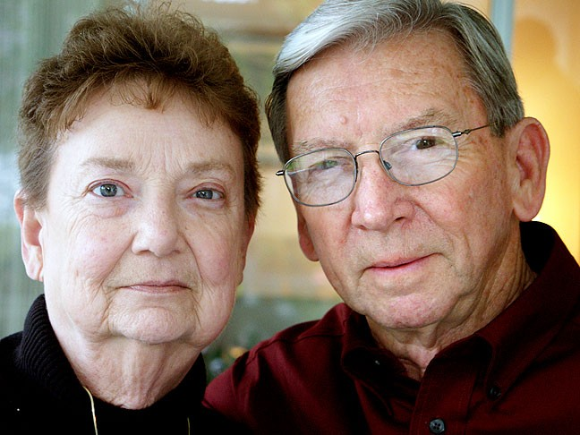 Carol and Wes Peterson, our Aunt and Uncle on Dad's side, February 2005