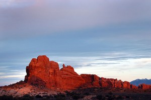 Scene at Arches similar to the one I dreamed. This image was made the day after we got married