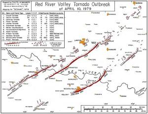 April 1979 tornado outbreak map