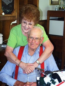 Abby's father Hershel Shoffner with his wife of nearly 20 years Ethel today. Hershel's first wife, Agness, Abby's mother, died in 1986 at the age of 60.