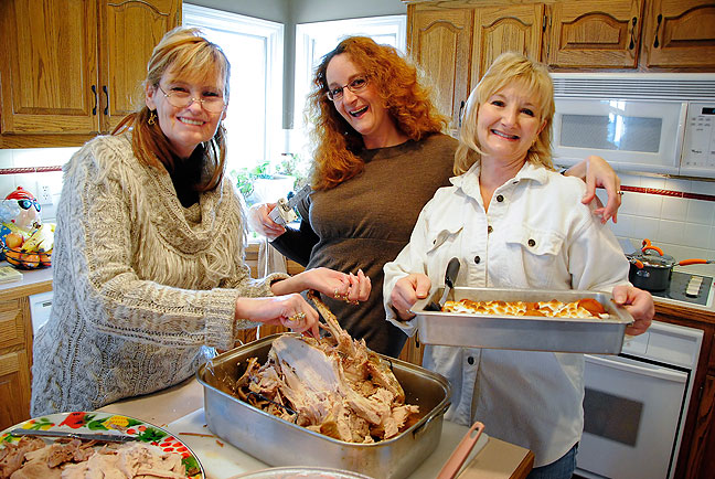 "Abby, Nicole and Lori in their best ""Good Housekeeping"" poses."