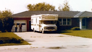 Waving goodbye to Hazel and Lewis Walsh at the house on R. D. Mize Road, circa 1977. I am not certain of their kinship to the Barrons.