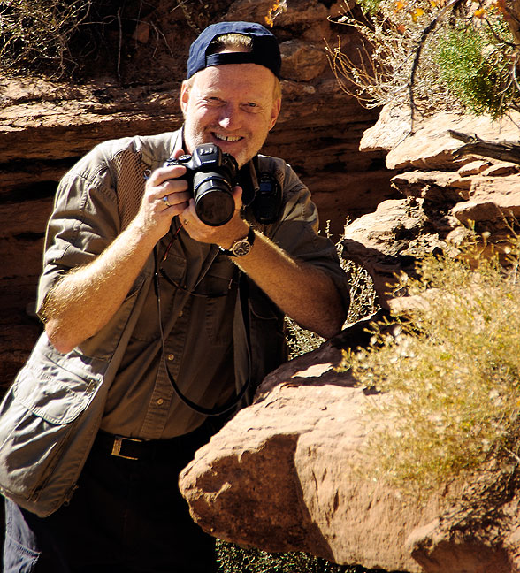 This is one of Abby's images of me shot at Arches National Park, Utah, in October 2010.