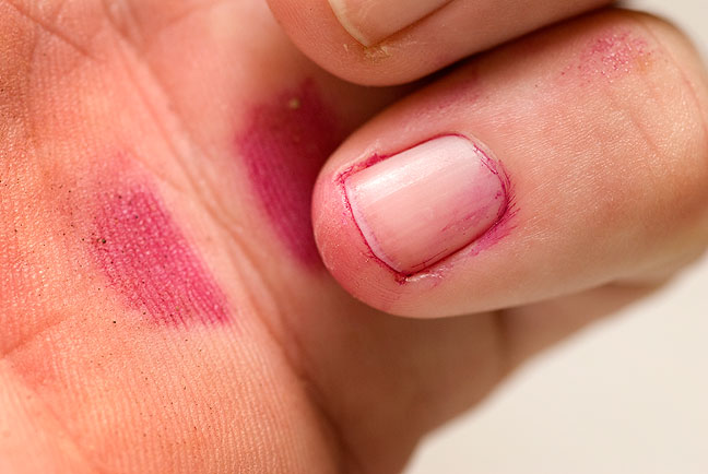 It's really purple, but I think it's funnier to say I had a pink pinky.