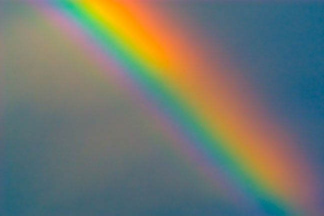 This post was updated June 29, 2015, a few days after the U.S. Supreme Court ruled that same-sex marriage is legal in all 50 states. I included this rainbow picture, made here at our home in Byng, as a symbol of support for the LGBT community.