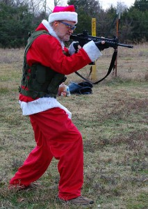 Santa wishes everyone a safe tactical Christmas.